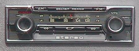 becker Mexico Cassette 485 front complete sound systems Becker Car Stereo at n-0.co
